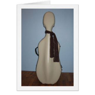Winter Cello greeting card