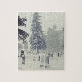 Winter Cemetery Jigsaw Puzzle