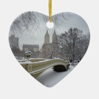Winter - Central Park - New York City Christmas Ornament