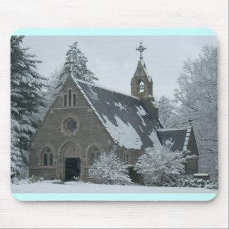 Winter Chapel Mouse Mat