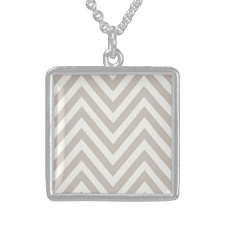Winter Chevron Medium Sterling Square Necklace