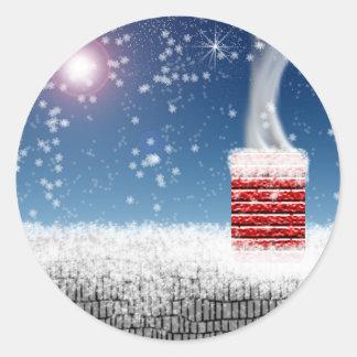 Winter Chimney Christmas Season Envelope Stickers