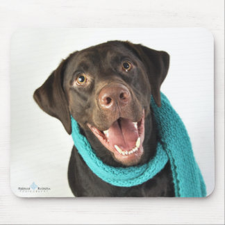 Winter Chocolate Lab Mouse Pad