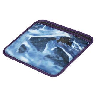 Winter + Christmas Light Blue Ice iPad Sleeves
