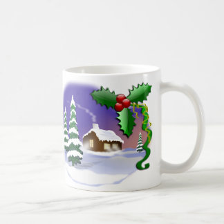 Winter Christmas Scene Coffee Mug