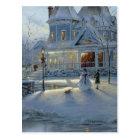 Winter Christmas Snow Scene Postcard