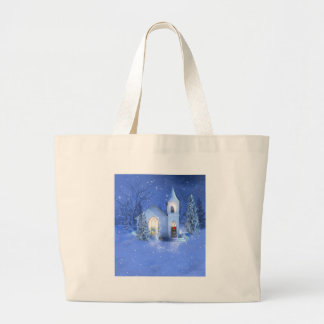 Winter Church Jumbo Tote Bag