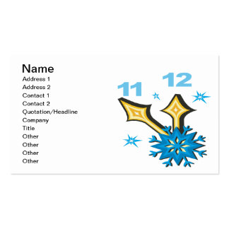 Winter Clock Pack Of Standard Business Cards