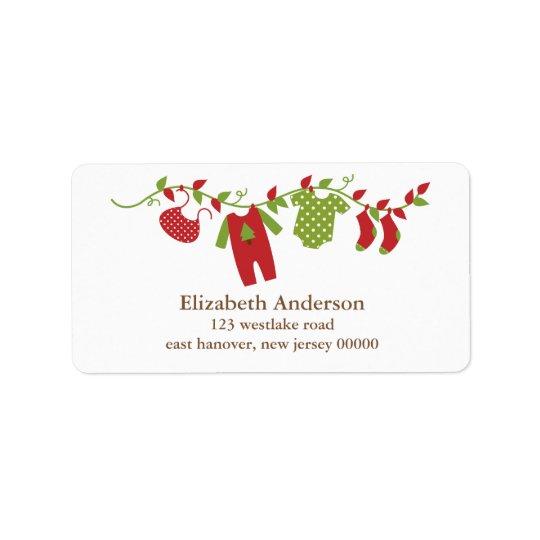 Winter Clothesline Address Labels
