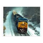 Winter Coal Train Postcard