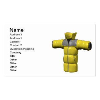 Winter Coat Yellow Pack Of Standard Business Cards