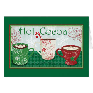 Winter Cocoa Greeting Card