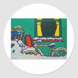Winter Color by Piliero Round Sticker
