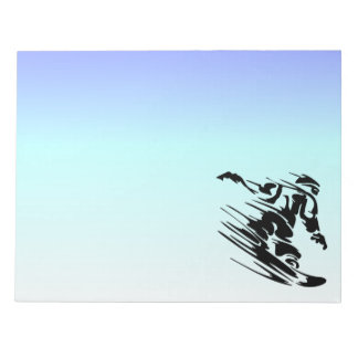 Winter Colors Fast Snowboarder Notepad