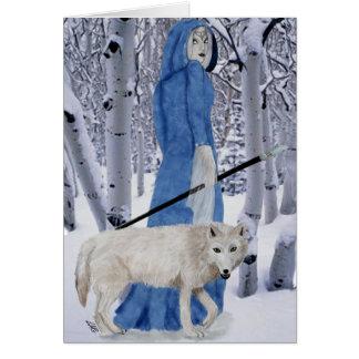winter companions greeting card