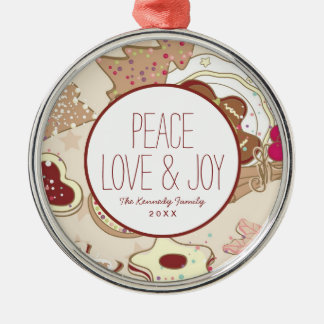 Winter Cookies Pattern Christmas Ornament