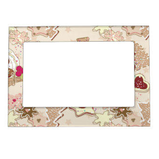 Winter Cookies Pattern Magnetic Picture Frame