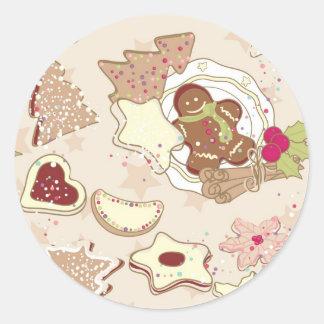 Winter Cookies Pattern Stickers