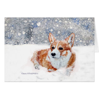 Winter Corgi Card