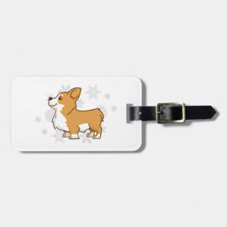 Winter Corgi Luggage Tag