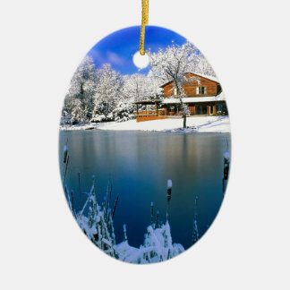 Winter Country Retreat Christmas Ornament