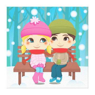 Winter Couple Canvas Print