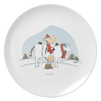 Winter Cow Plate