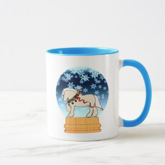 Winter Cream Snowglobe Mug