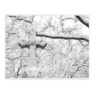 Winter Cross Postcard