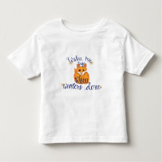 Winter Cute Fox Toddler T-Shirt