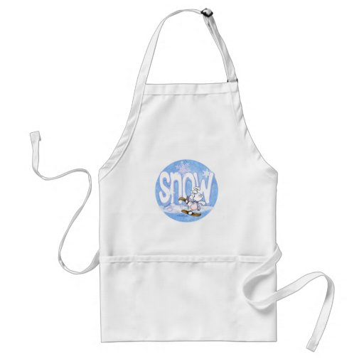 Winter - Cute Snow Bunny Apron
