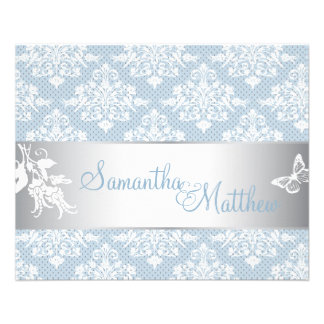 Winter Damask Directions Card 2 11.5 Cm X 14 Cm Flyer