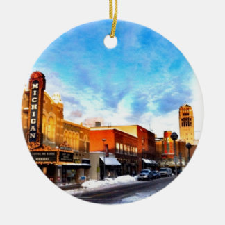 Winter Day In Ann Arbor Christmas Ornament