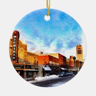 Winter Day In Ann Arbor Ornament