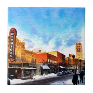 Winter Day In Ann Arbor Tile