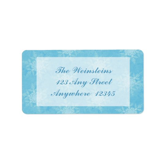Winter Day Label