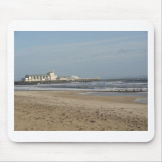 Winter day on Bournemouth beach Mouse Pads