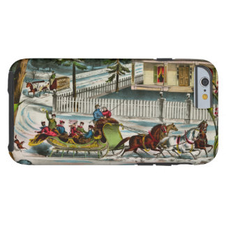 Winter Days Christmas scene Tough iPhone 6 Case