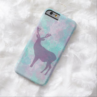 Winter deer silhouette pastel color by EDrawings38 Barely There iPhone 6 Case