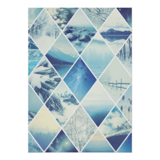 Winter Diamond Pattern Poster