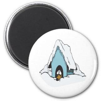 Winter Dog 6 Cm Round Magnet