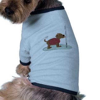 Winter Doggy Pole Doggie Tshirt