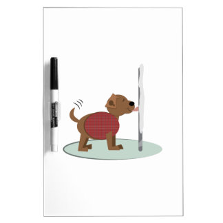 Winter Doggy Pole Dry-Erase Boards