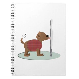 Winter Doggy Pole Note Book