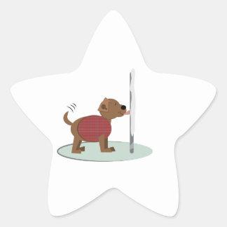 Winter Doggy Pole Star Stickers