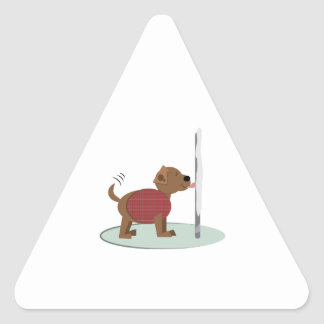 Winter Doggy Pole Stickers