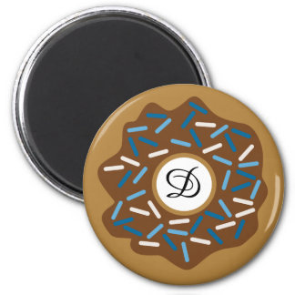 Winter Donuts with Blue Sprinkles Iced Chocolate Magnet