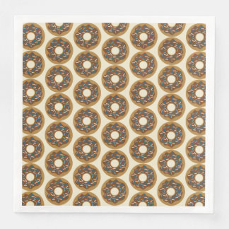 Winter Donuts with Blue Sprinkles Iced Chocolate Paper Napkin