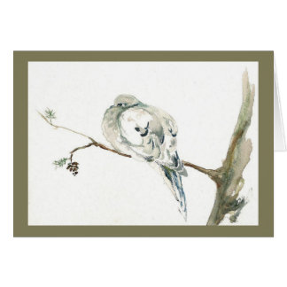 Winter Dove.  Holiday card. Card