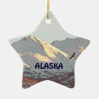 Winter Eagle Christmas Ornament